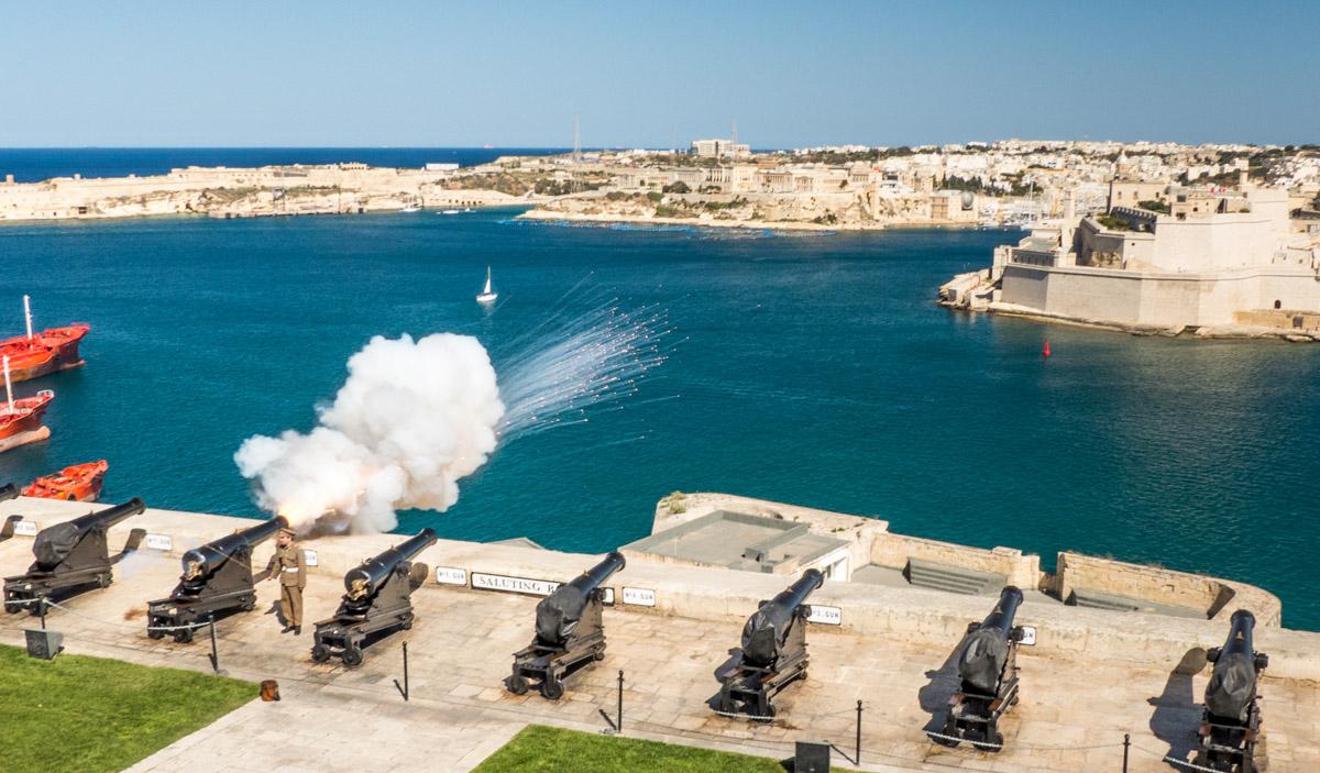 Batterie de salut, la Valette, Malte