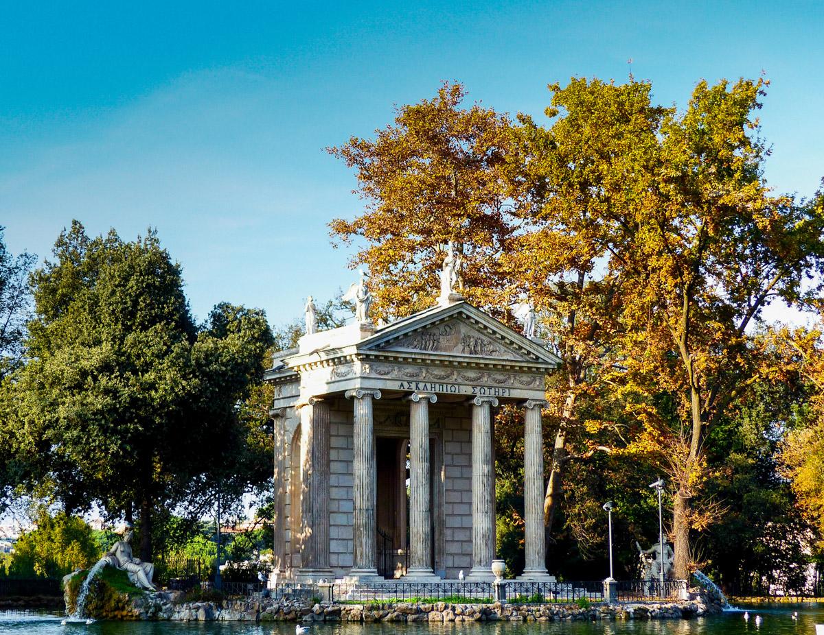 Temple d'Esculape, Parc Borghese, Rome, Italie